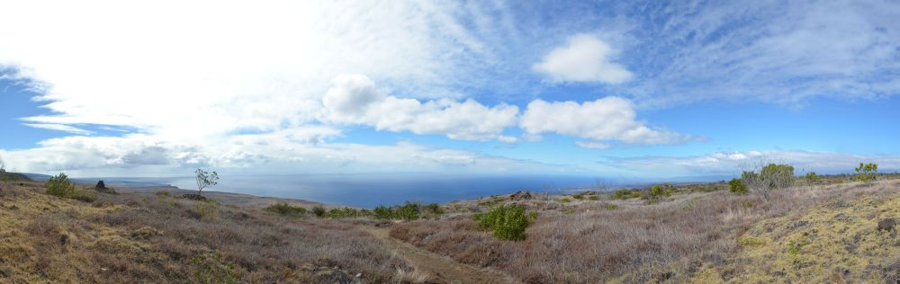 Hilina Pali Outlook  Panorama