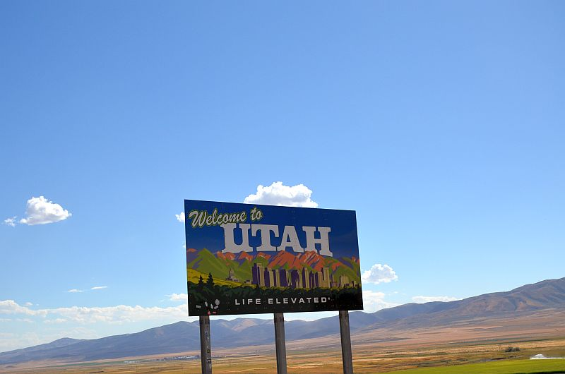 Utah, Welcome sign